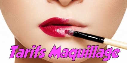 Tarifs Maquillage