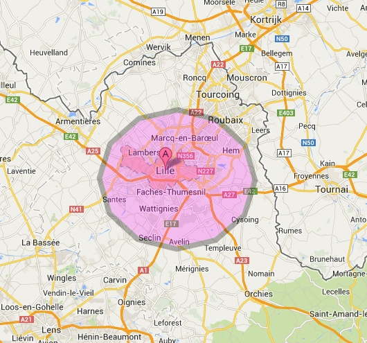 Zone deplacement coiffure a domicile Lille